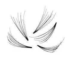 10 Strand Knot Free Flare Lashes **DIFFERENT SIZES**