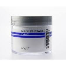 The Edge Nails Acrylic Powder CLEAR 40gm