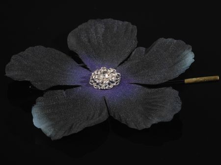 **SALE** Crystal Swarovski hair flower, black