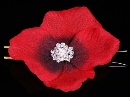**SALE** Swarovski crystal Flower Glamour circle red