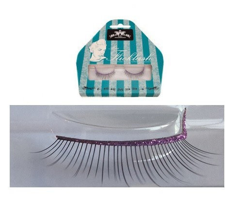 Miss Flicklash strip eyelashes **PURPLE**, strip lashes with flick attached. PARTY LASHES