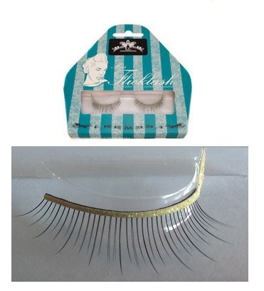 Miss Flicklash strip eyelashes **YELLOW**, strip lashes with flick attached. PARTY LASHES