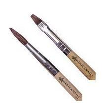 Americanails Acrylic Sable Brush *Round OR Flat*