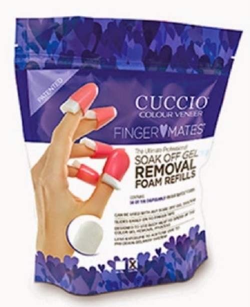 Cuccio Finger Mates Soak Off Gel Removal System 50 x disposable foam pads
