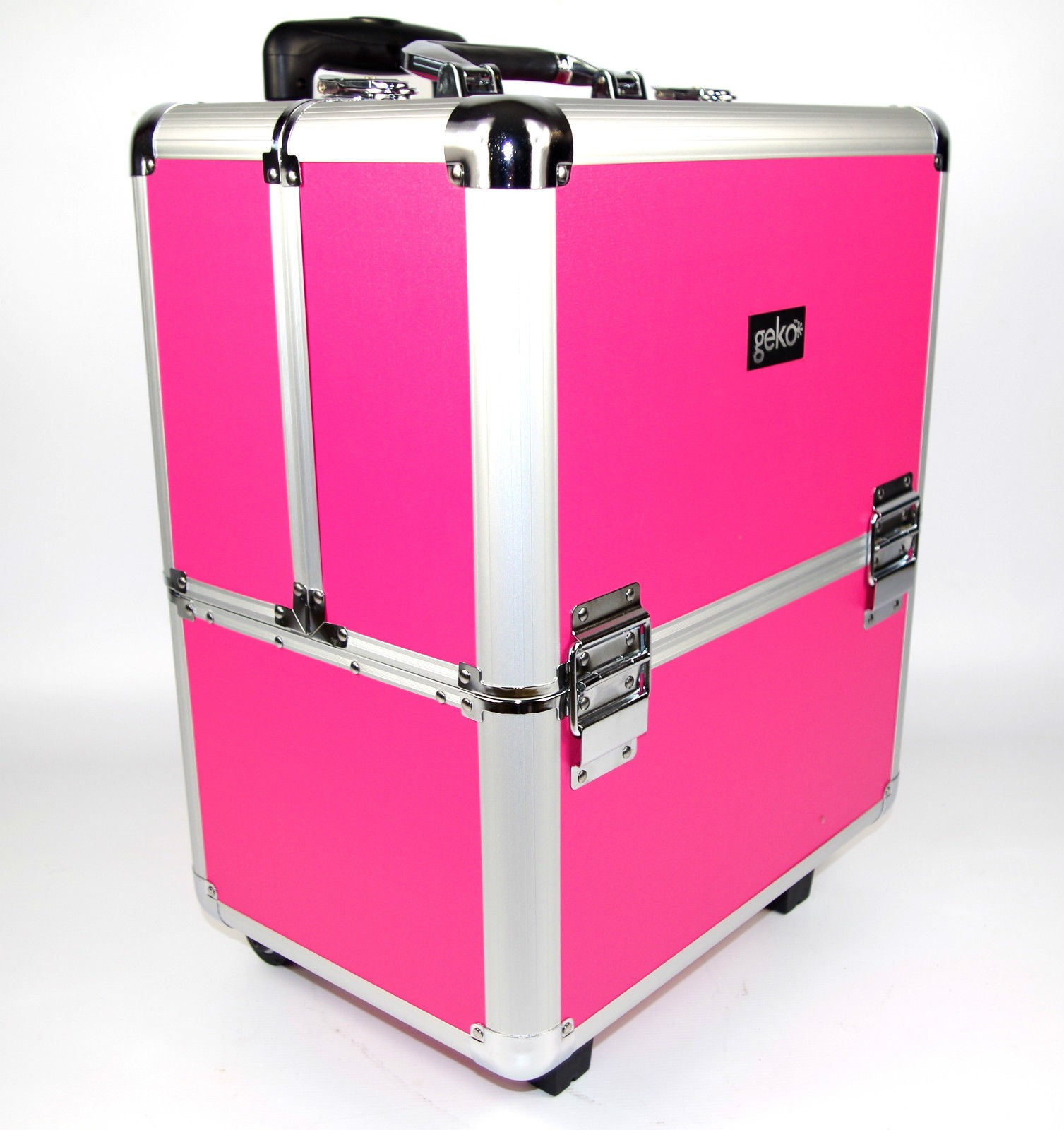 Professional Aluminium Beautician Makeup Trolley Beauty Box Vanity Case by Geko™