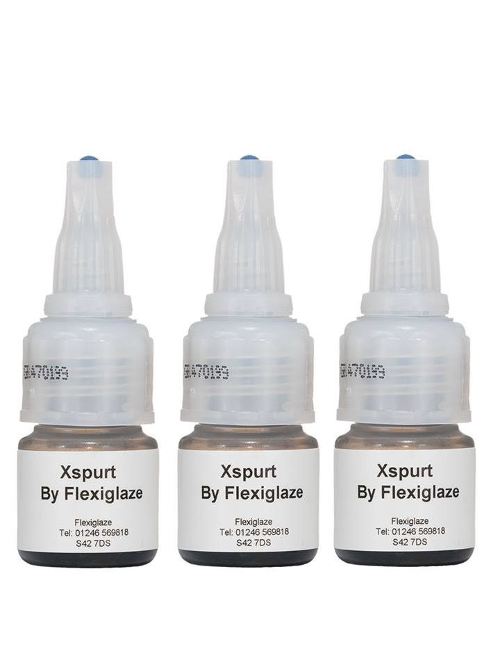 X SPURT by Flexiglaze - Eyelash Exts. Adhesive 5gm  (3 BOTTLES !!)