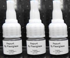 X SPURT by Flexiglaze - Eyelash Exts. Adhesive 5gm  (3 BOTTLES !!)