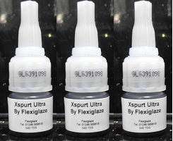 X SPURT ULTRA by Flexiglaze - Eyelash Exts. Adhesive 5gm Ultra Fast Set - RUSSIAN / CLASSIC ( 3 Bottles )
