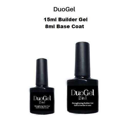 DuoGel 2 in 1  15ml Strengthening Builder Gel plus 8ml Base Coat