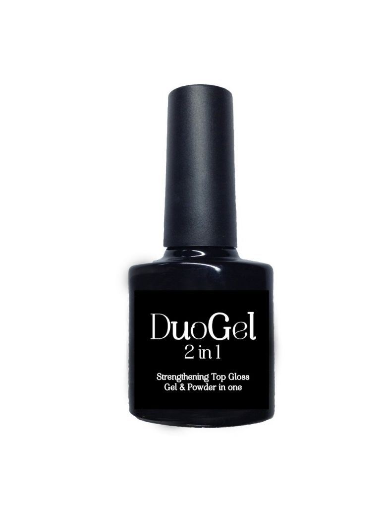 DuoGel 2 in 1  8ml Strengthening No Wipe Top Gloss